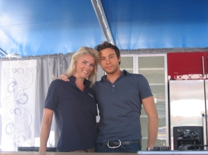 Corinna and Chef Rocco DiSpirito at Taste of Atlanta