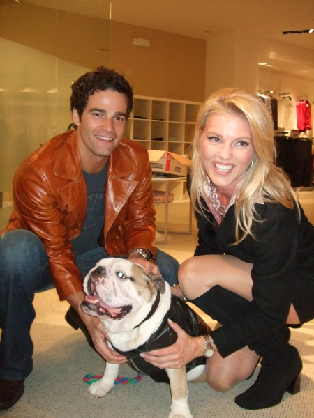 Corinna with CNN's Rob Marciano and friend