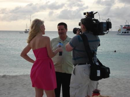 Corinna on Aruba's Palm Beach