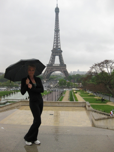 Corinna at the Eiffle Tower