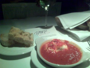 Goat cheese and marinara at Pricci