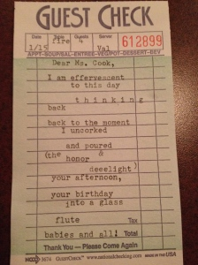 An original poem, written after my birthday lunch at the Pfister.